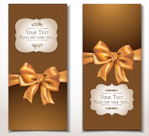 Free Vector Elegant Gift Card with Bow Design Template 01 ...
