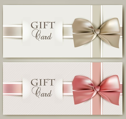 Free Vector Elegant Gift Card with Bow Design Template 04 ...