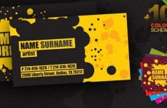 Creative Business Card Template with 10 Colour Schemes PSD