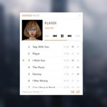 Mini Google Music Player Interface PSD
