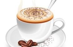 Vector Elegant Coffee Cup Design Material 01