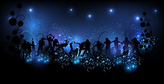 free vector dancing people shining background 04   titanui