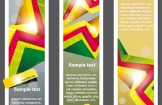 Set of Creative Geometry Concept Vector Banners 01