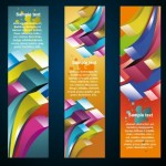 Set of Creative Geometry Concept Vector Banners 04