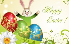 Candy Happy Easter Card Cover Vector Design 01
