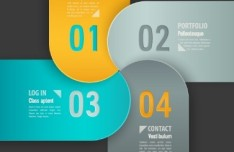 Fashion Origami Step Options Vector Label For Infographic 05