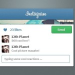 Instagram Widget Interface PSD