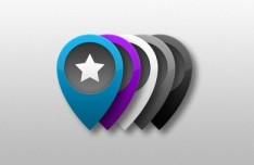 Set of Colored PSD Location Markers 02
