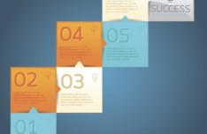 Fashion Vector Origami Option Labels For Infographic 02