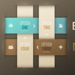 Fashion Vector Origami Option Labels For Infographic 05