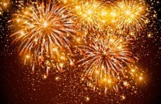 Colorful Fireworks Vector Background 01