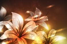 Fantastic Shining Vector Flowers 03
