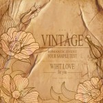High Quality Vector Vintage Flower Background 03