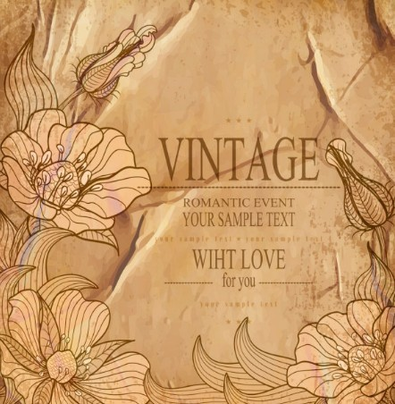 Free High Quality Vector Vintage Flower Background 03 - TitanUI