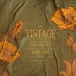 High Quality Vector Vintage Flower Background 04