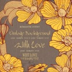 High Quality Vector Vintage Flower Background 05