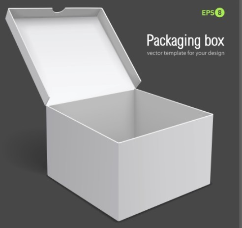Vector packaging box templates free 3d white packaging box vector template titanui maxwellsz