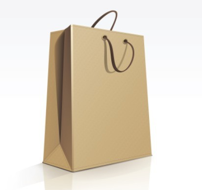Free Elegant Vector Paper Shopping Bag Design Template 01 - TitanUI