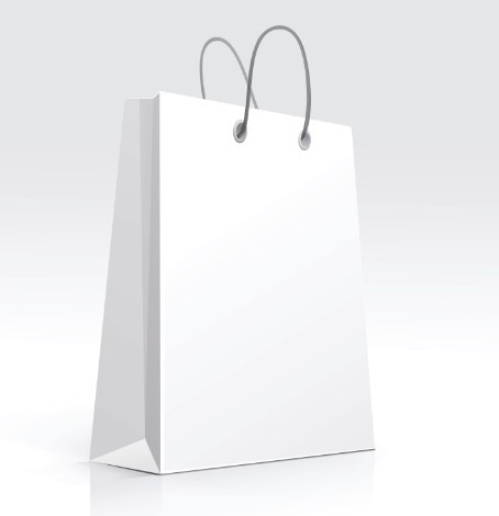 Free Elegant Vector Paper Shopping Bag Design Template 02 ...White Paper Bag Vector