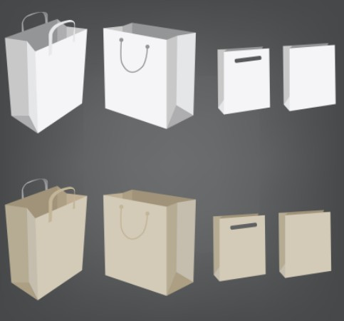 Shopping Bags Design Template Bag Design Template 05