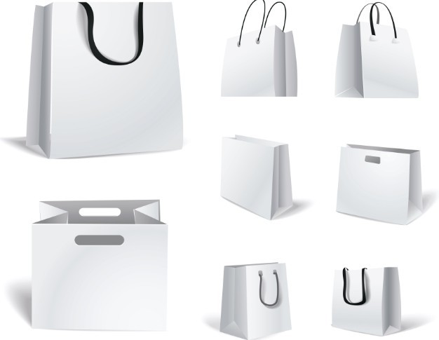 Shopping Bags Design Template Bag Design Template 06