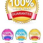 6 Sleek Money Back Guarantee Vector Badges