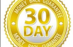 Golden 30 Day Money Back Guarantee Vector Badge