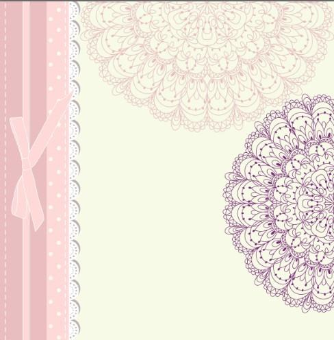 Free Retro Pink Invitation Card Cover Design Elements Vector 03 – Invitation Card Design Free