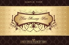 Vintage Golden Menu Template Vector 04