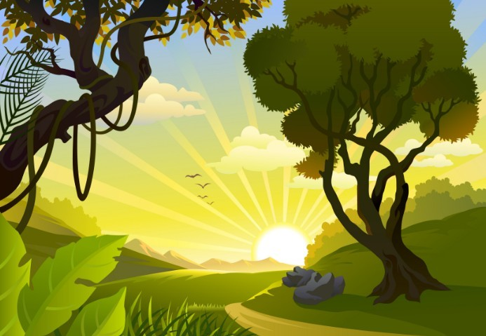 Cartoon background vector free download