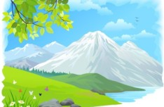 Vector Cartoon Nature Background 02