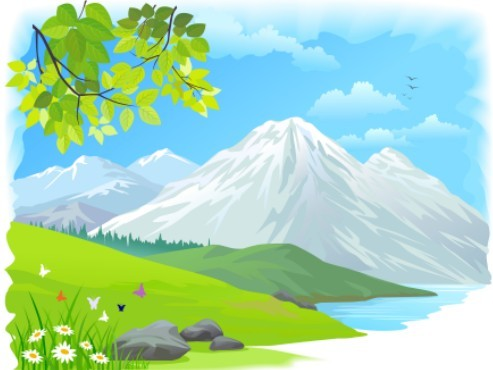 Free Vector Cartoon Nature Background 02 Titanui