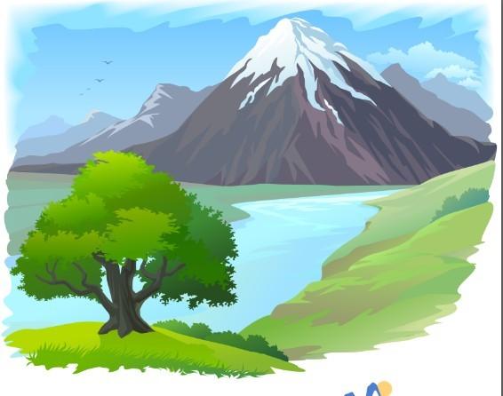Free Vector Cartoon Nature Background 05 Titanui