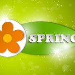 Paper Like Spring Flower Vector label 01