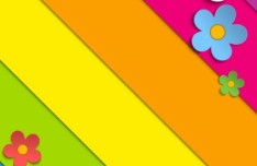 Paper Like Spring Flower Vector label 02