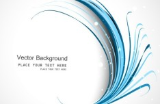 Blue Curved Lines Background Vector