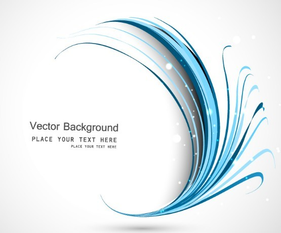 Free Blue Curved Lines Background Vector TitanUI