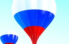 Vector Hot Air Balloon Dutch Flag