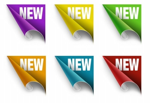 Free Set Of Vector Colorful NEW Corner Labels - TitanUI
