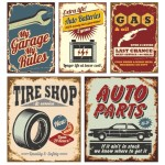 Set of Vector Vintage Car Promotional Posters