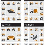 Vector Transportation Tools Icon Set