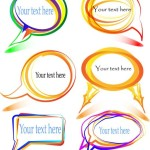 Colorful Doodle Lines Speech Bubbles Vector