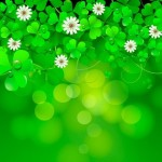Green St.Patrick's Day Clover Background