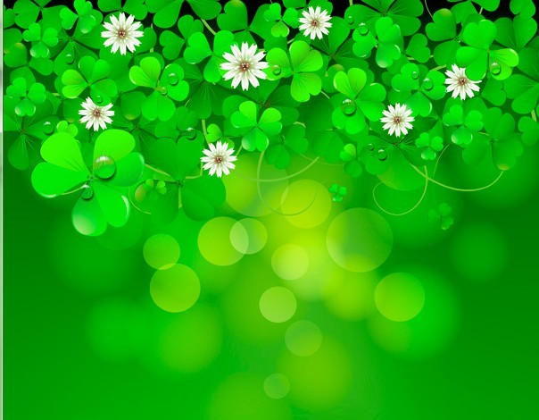 St Patrick Background Images: Free Green St.Patrick's Day Clover Background