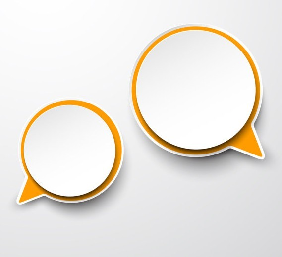 Free Smooth Paper-Like Chat Bubble Vector Labels 02 - TitanUI