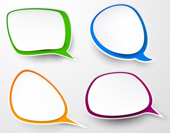 Free Smooth Paper Like Chat Bubble Vector Labels 04 Titanui
