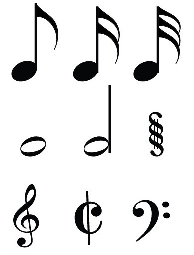 Musical Notes Symbols Vector | www.imgkid.com - The Image ...