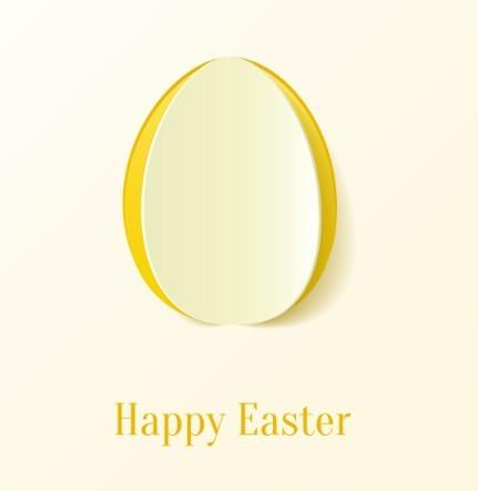 Egg Vector Logo Vector Paper Shape Easter Egg