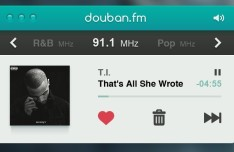 Clean Radio Player Interface PSD