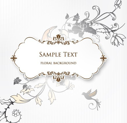 Free Clean and Elegant Vector Floral Frame 02 - TitanUI